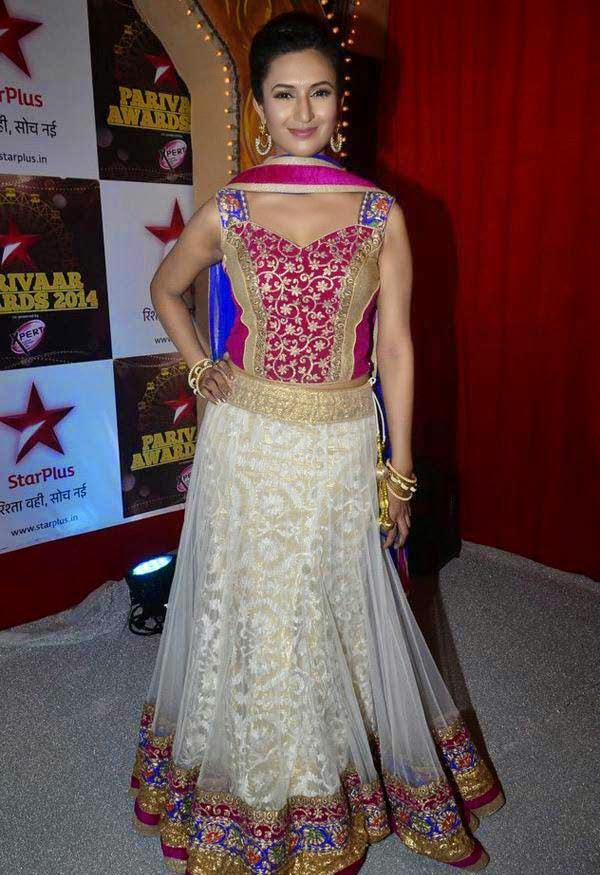 Divyanka Tripathi At The Star Parivaar Awards 2014