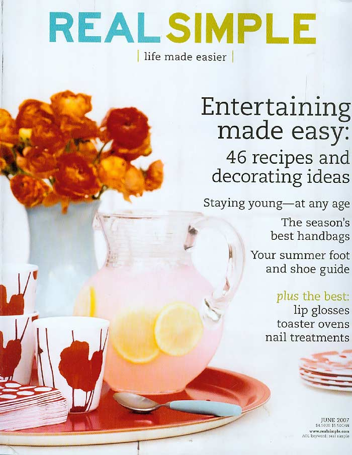 real simple magazine Find fast, fresh, and delicious recipes from real simple magazine that are sure to become family favorites find fast, fresh, and delicious recipes from real simple magazine that are sure to become family favorites.
