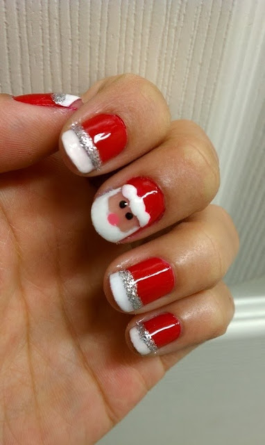 Beautiful Santa Nail Style For Girls