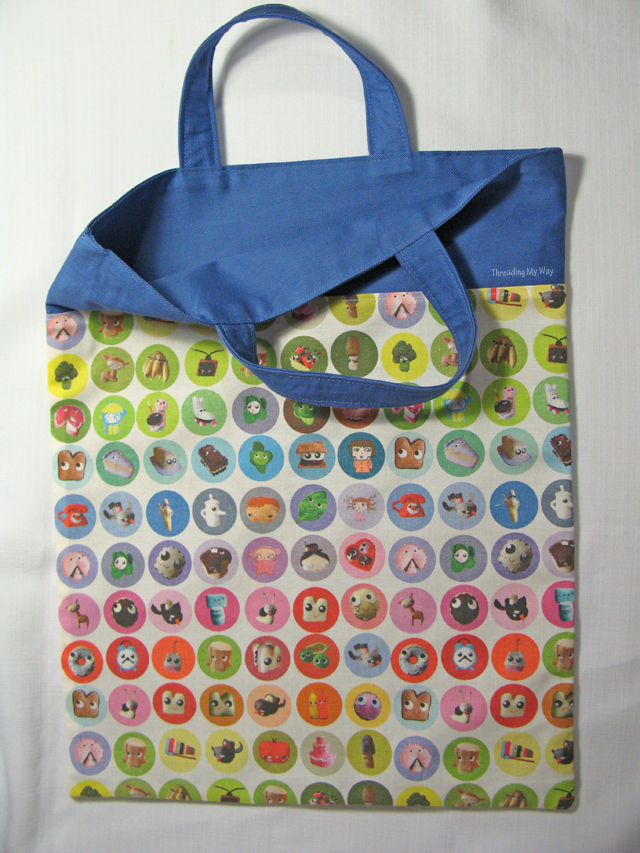 How To Make A Book Bag : Threading my way library bag tutorials