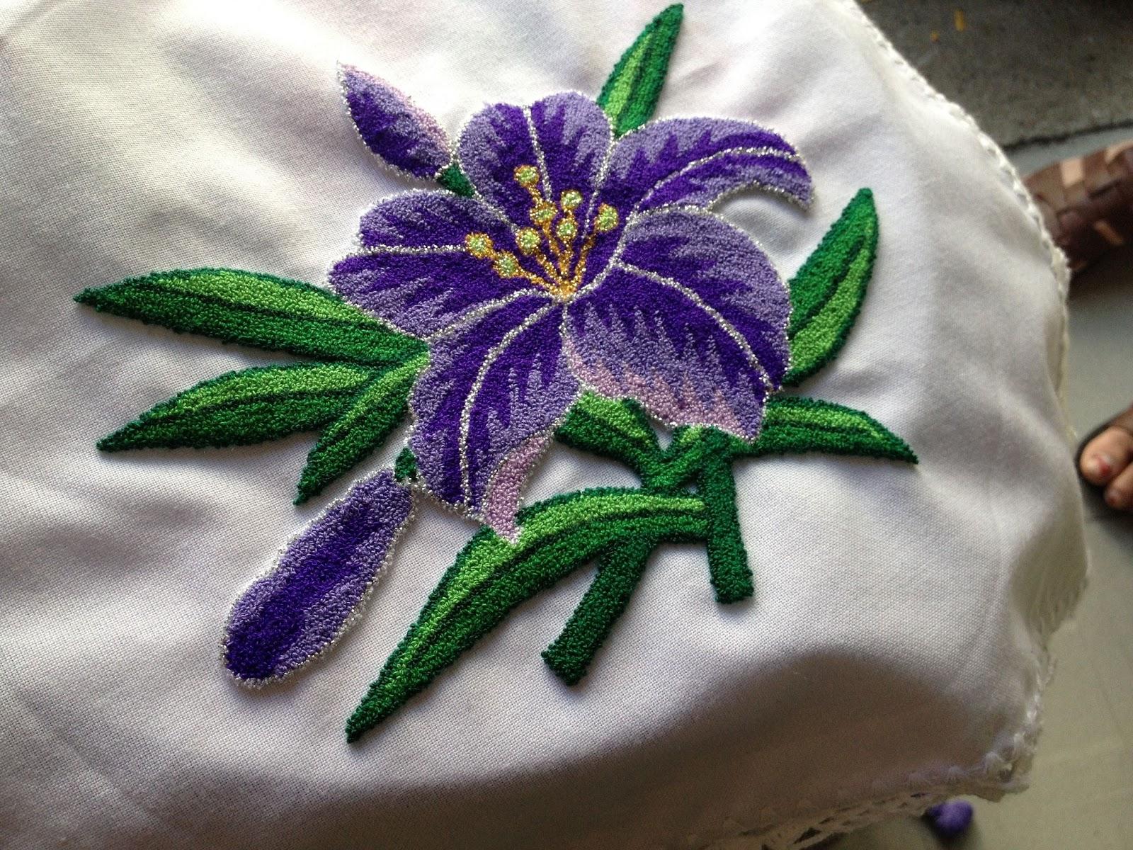 Abalorios y otras joyas tutorial de bordado ruso o for Como hacer alfombras en bordado chino