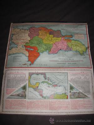 Mapa antiguo de República Dominicana