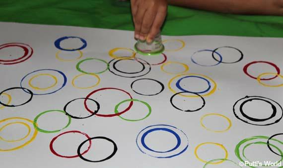Printing Circle Kids Art