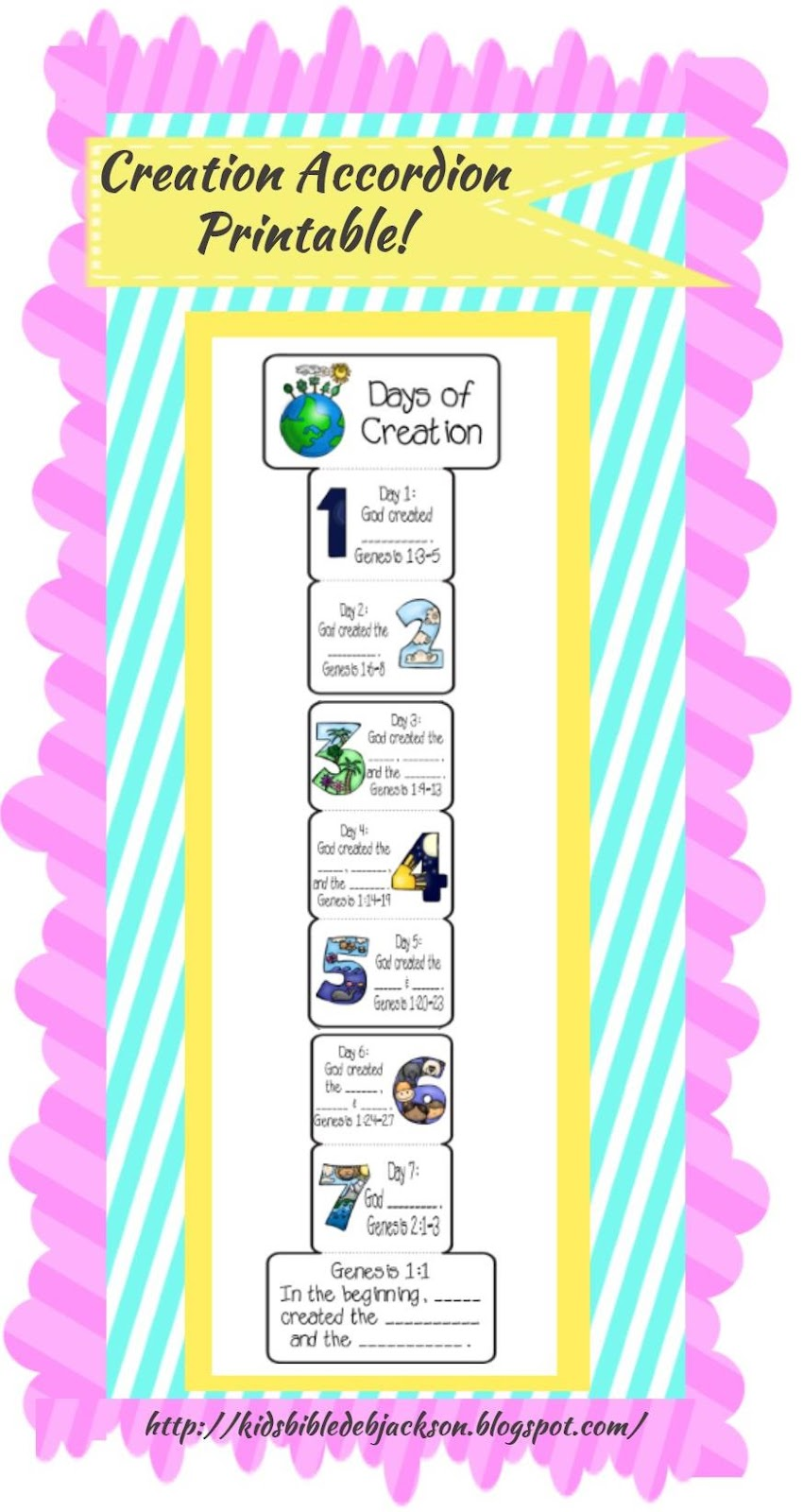 Craft for creation story - Creation Printables