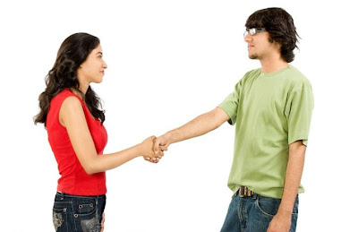 Are You Ready To Be Friends With Your Ex - man and woman shake hands