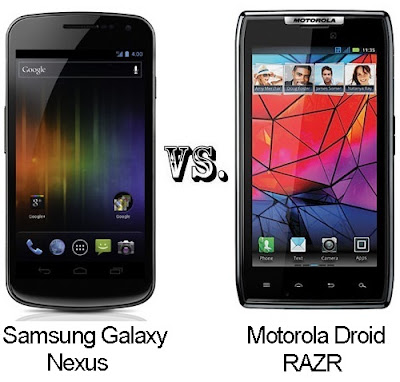 Samsung Galaxy Nexus Vs Motorola Droid RAZR: Specs Compared