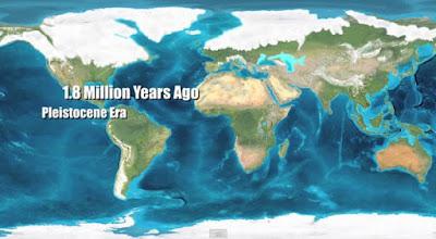 Paleo mapa del Pleistoceno