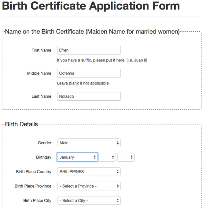 how to get authenticated birth certificate online