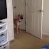 Ou esse cachorro viu um fantasma ou ele odeia camas desarrumadas
