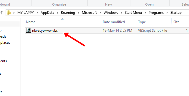 Check if there is nkvasyoxww.vbs exist in the startup folder If it exist then delete it.
