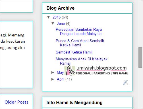 Bila ibu super duper busy dengan baby baru, blog pun terabai tak sempat update.