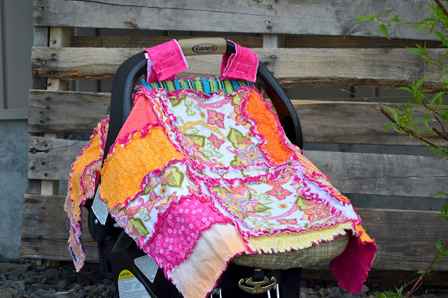 Addy Mae Rag Quilt Pattern and Car Seat Tent by A Vision to Remember