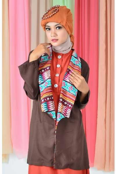 wanita muslim, blazer wanita muslim modern, blazer wanita muslim murah ...