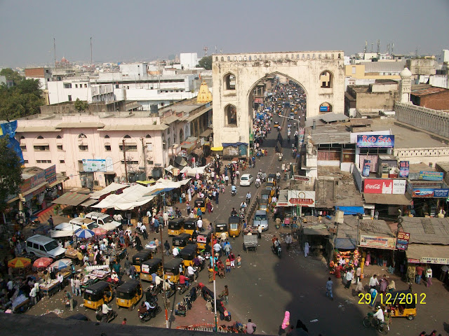 Atop Charminar Hyderabad photo
