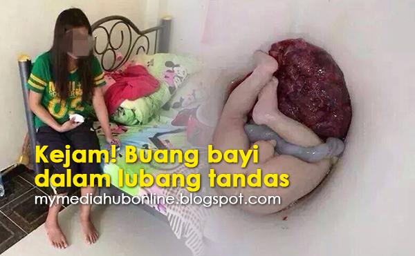 Kejam!! Buang Bayi Dalam Lubang Tandas (4 Gambar)