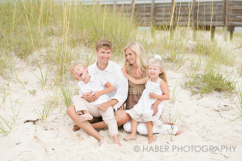 Family in White Photo Session on the Beach