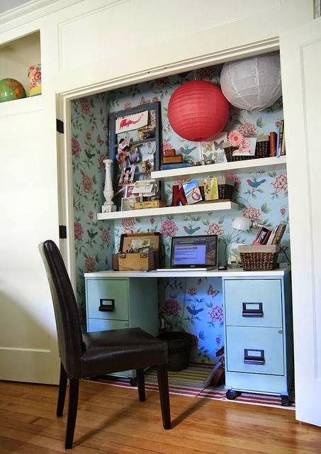 ahorrar espacio, escritorio armario