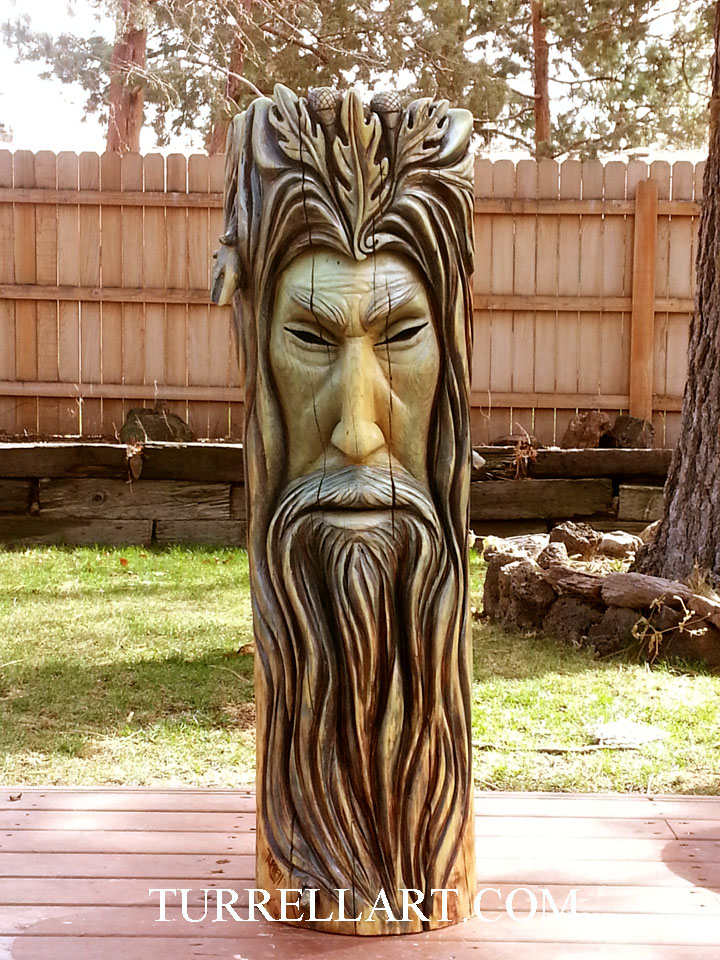 Daily artwork by bleu turrell wood spirit celtic green