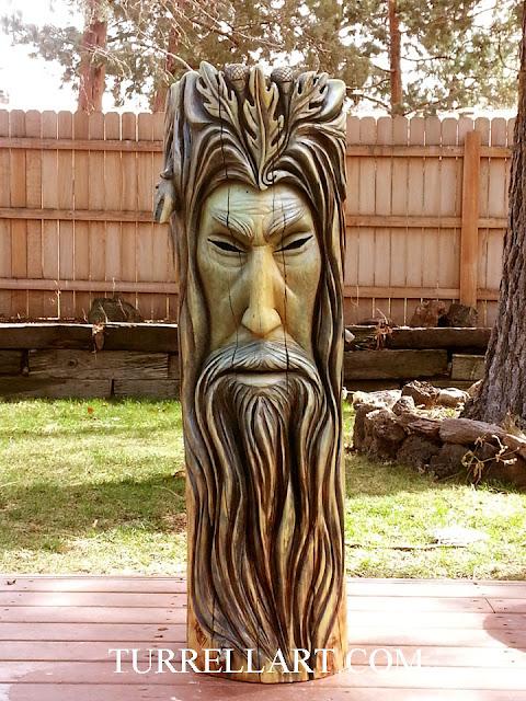 Daily artwork by bleu turrell wood spirit celtic green