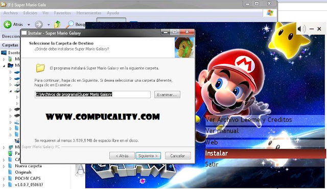 Capturas Instalacion Super Mario Galaxy