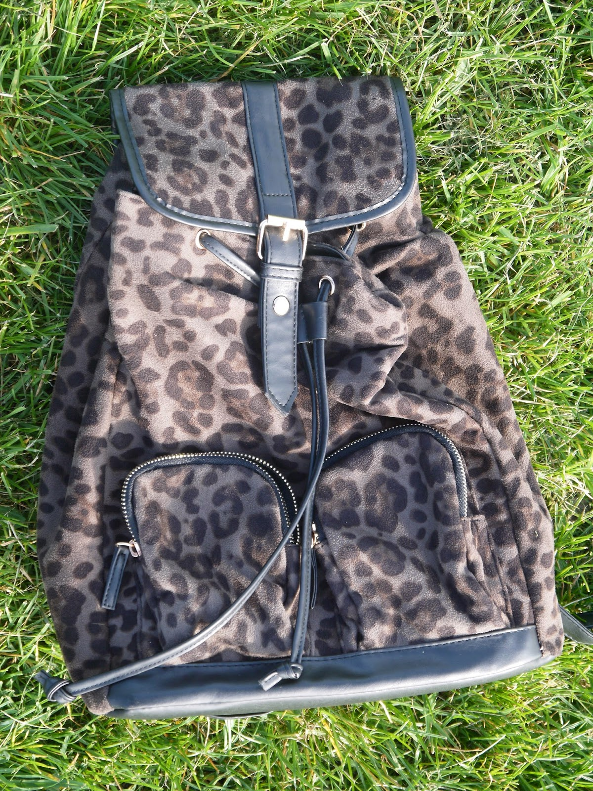 What's in My Bag featuring My Primark Leopard Print Rucksack