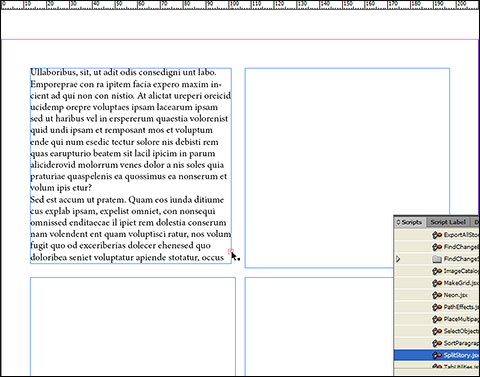 Unlink two frames in InDesign