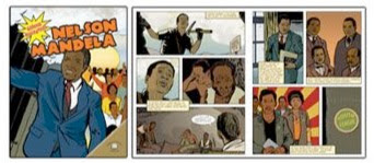 sample pages from NELSON MANDELA  (Graphic Biographies)  by Kerri O'Hern and  Gini Holland  D. McHargue (Illustrator)