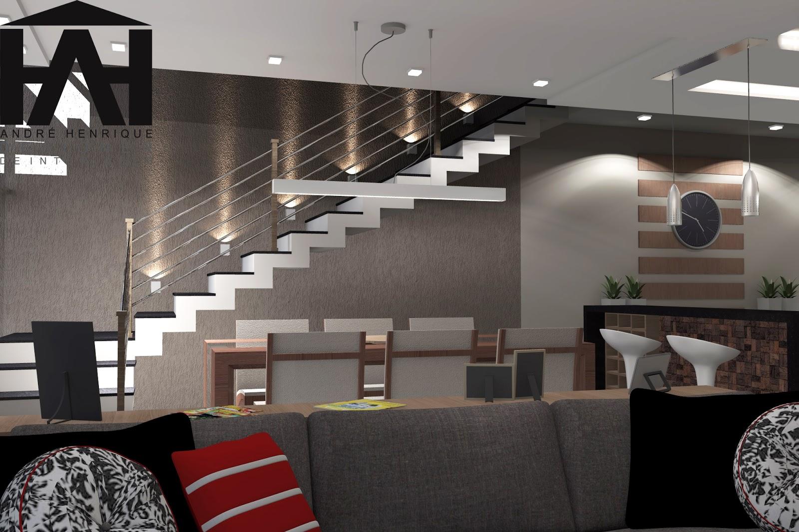 de Interiores : Projeto Residencial ! sala cozinha e sala de  #5F3C38 1600 1067