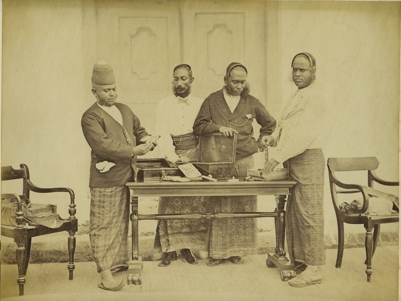 Four Sinhalese Traders  - Ceylon (Sri Lanka) c1870's