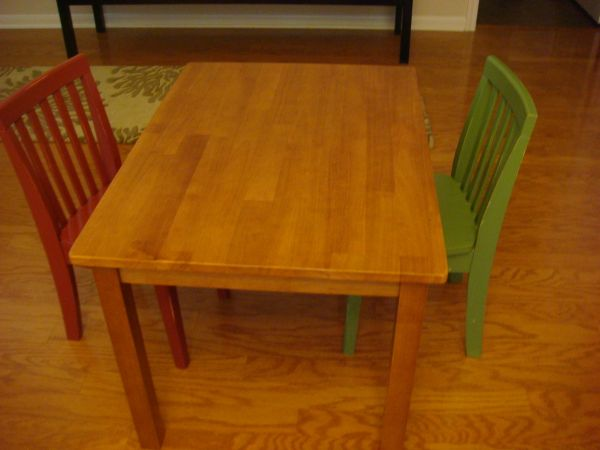 Craigslist Kid Table And Chairs (8 Image)