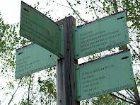 Indicador de camins al Pont de Targarona