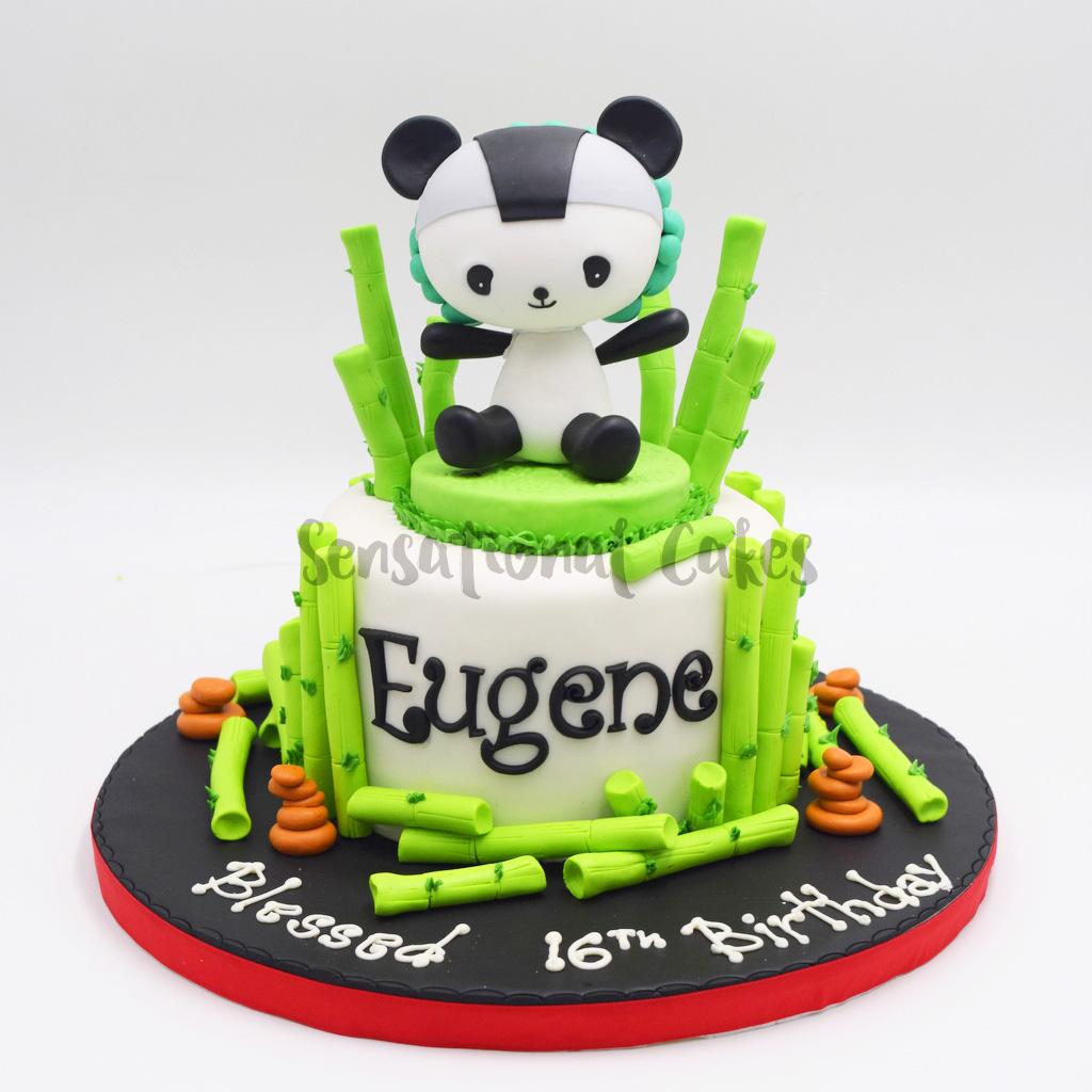 The Sensational Cakes Cute Panda Animal Theme Customized Cake