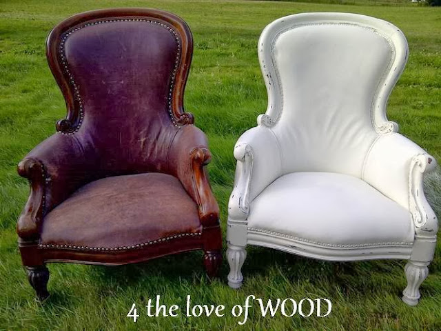 4 the love of wood annie sloan the painted leather chair for How to paint leather furniture