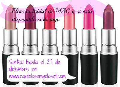 "Sorteo en el blog ""Can't close my closet"""
