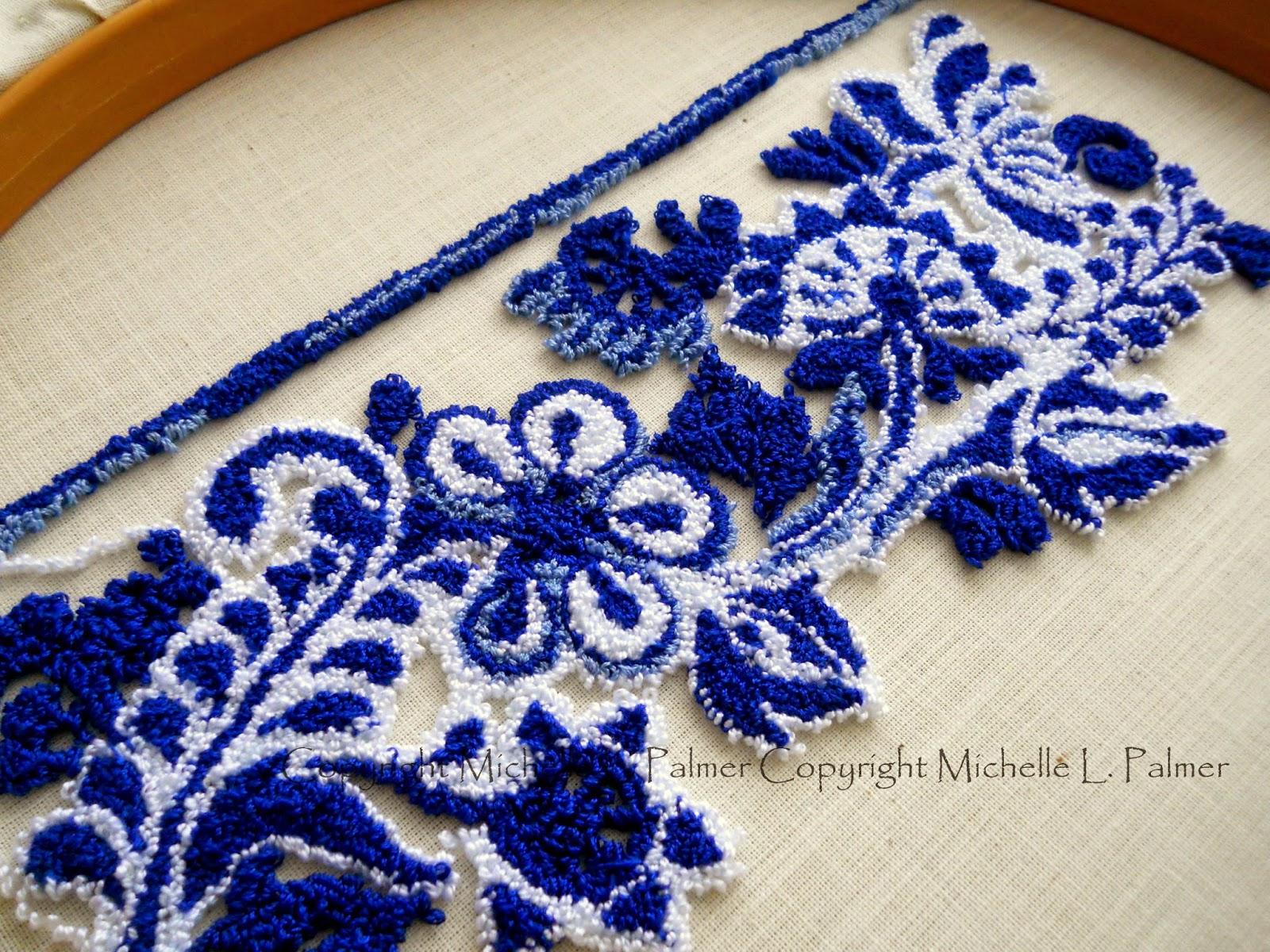 Michelle Palmer U0026quot;Flow Blue Skepsu0026quot; Punch Needle