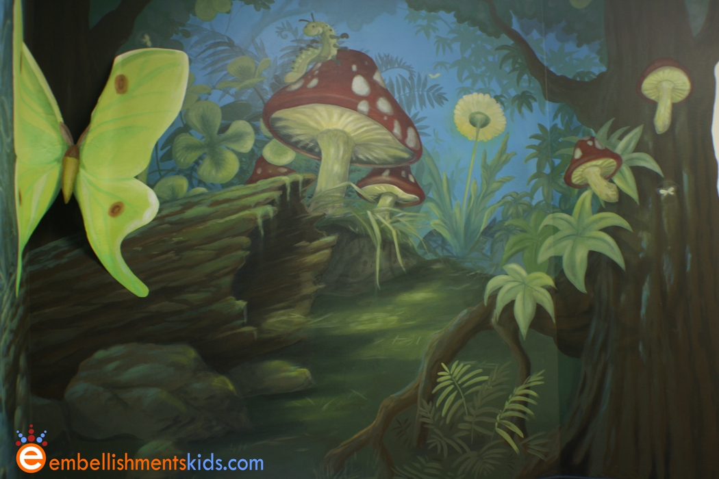 Enchanted forest crafts for kids for Enchanted forest mural