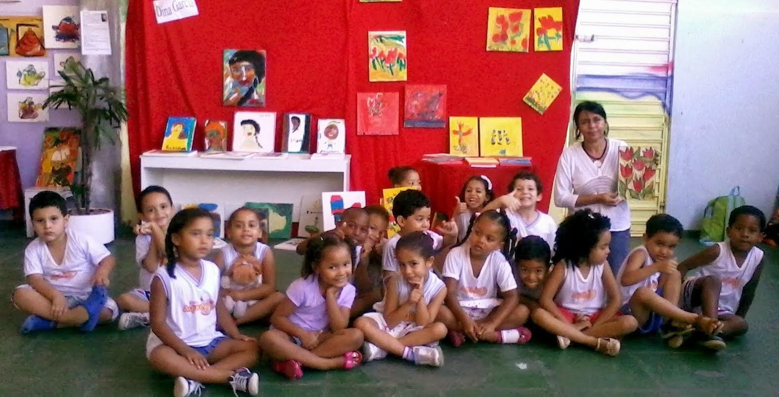 PROJETO CULTURAL VIDA EM ARTE DA ESCOLA AQUARELA - CRUZ DAS ALMAS - BAHIA - RELEITURA DAS TELAS QUE