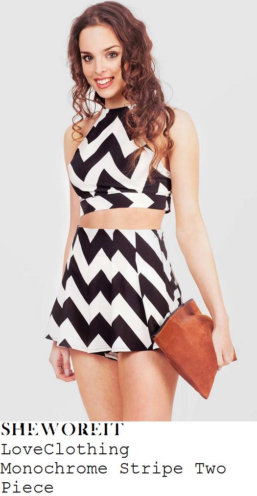 lydia-bright-black-white-zig-zag-crop-top-shorts-co-ords
