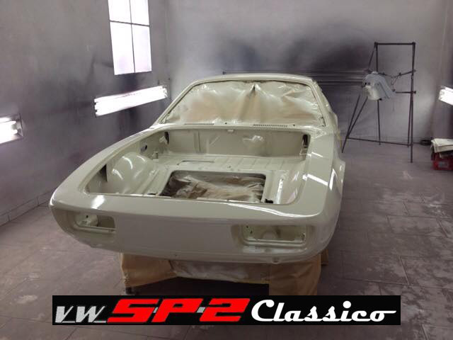 Pintura da carroceria do Volkswagen SP2