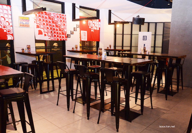 Cozy Japanese decor at Hana Dining & Sake Bar, Sunway Pyramid