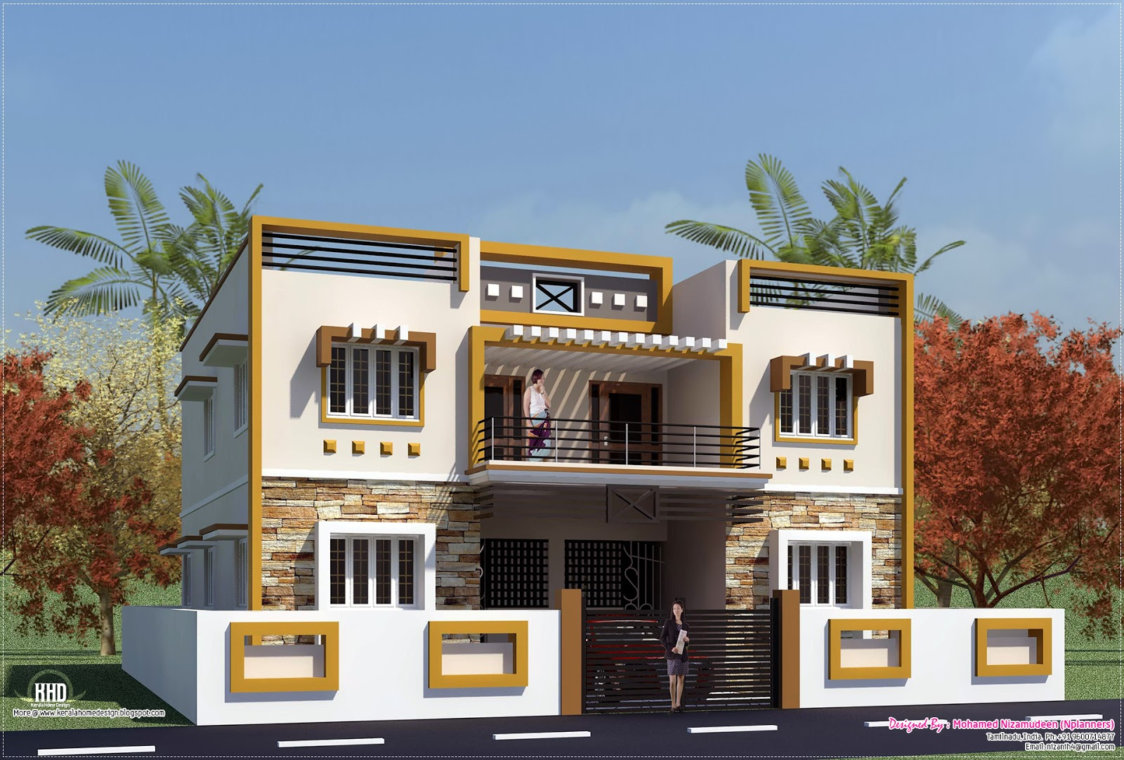 Eco friendly houses box type tamilnadu house design for Tamilnadu house designs photos