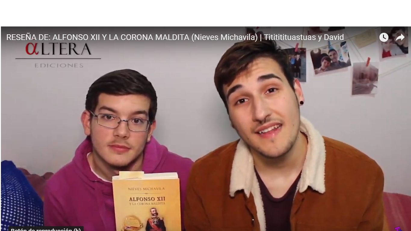 Vídeo Reseña Alfonso XII y la corona maldita