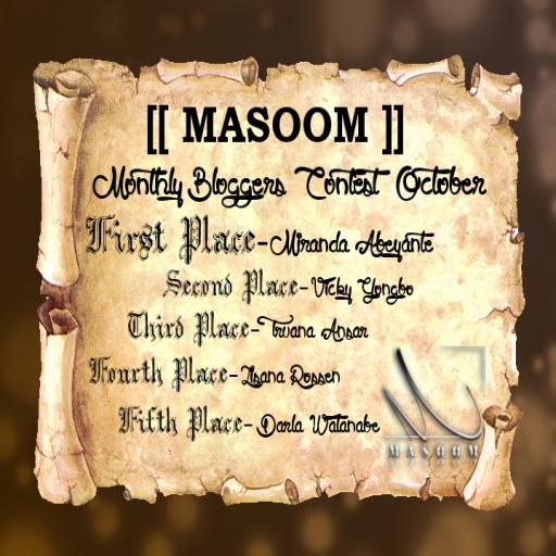 [[Masoom]] 2nd place blog winner!