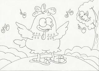 Desenhos da Galinha Pintadinha para colorir e pintar