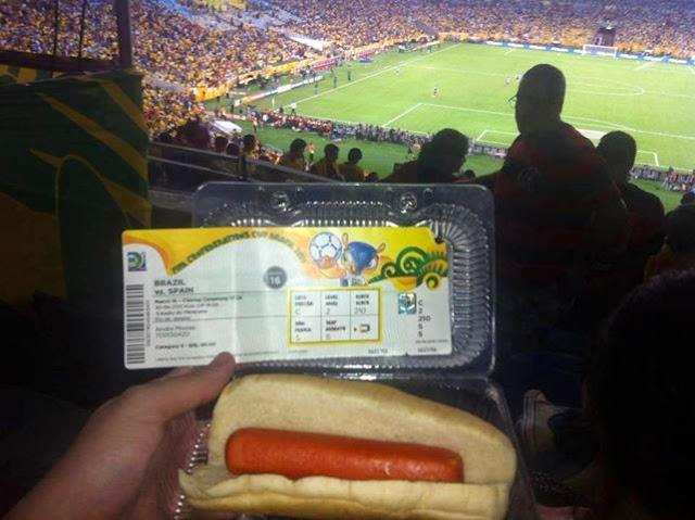 Preço da comida e bebida nos estádios da Copa do Mundo 2014 Brasil