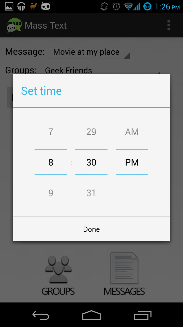 Phone Set Time On Android Phone best way to send out mass texts using your android phone phone