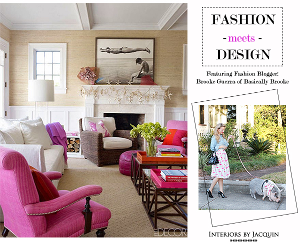 Fashion Meets Interior Design Featuring Brooke Guerra Pet Piggy Maebelle