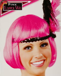Hot Pink Flapper Adult Wig