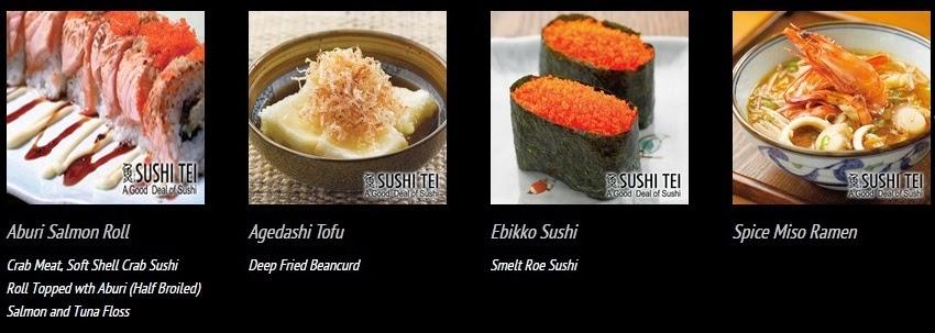 daftar harga dan menu sushi tei