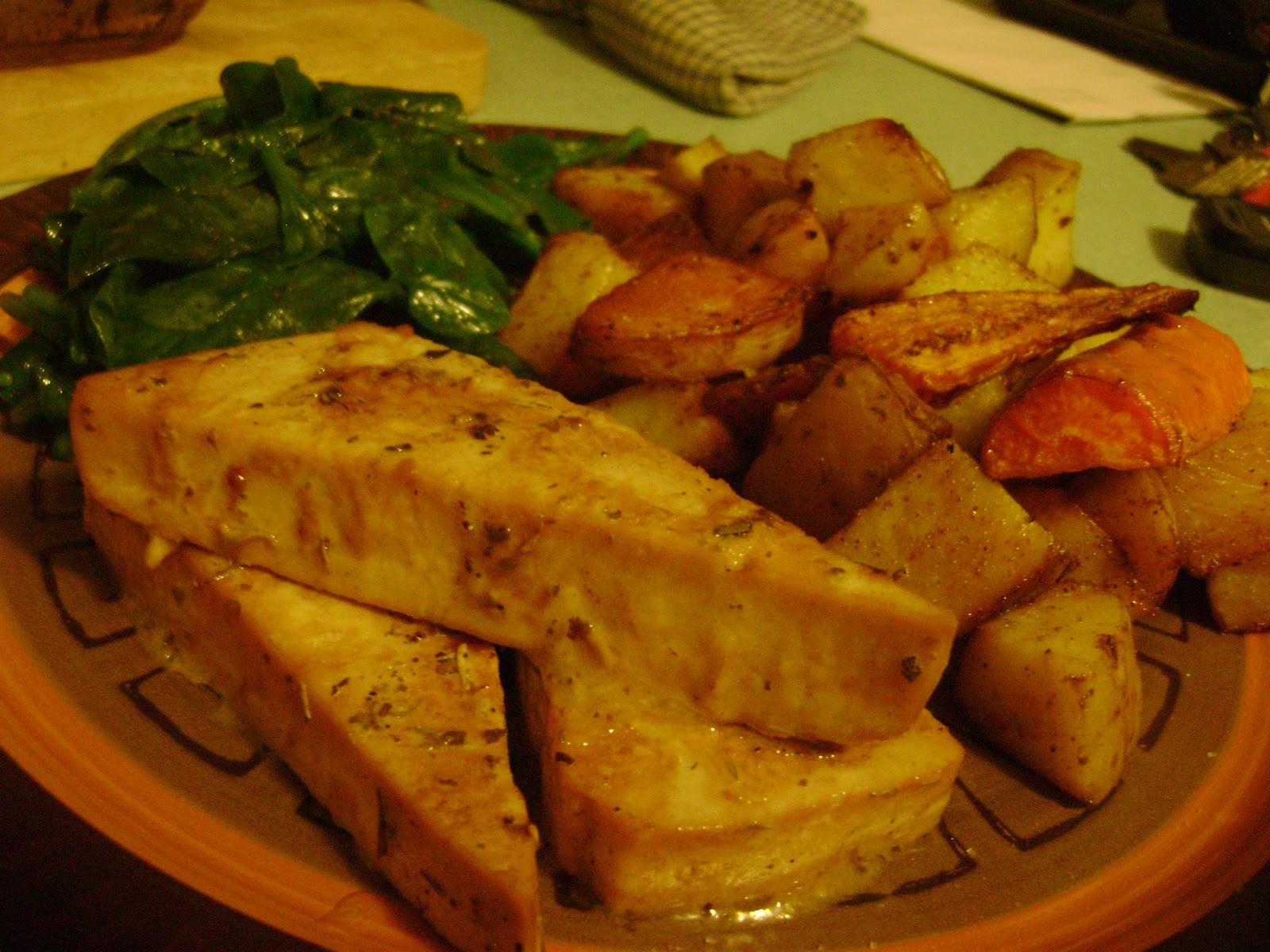 Dijon-Lemon Baked Tofu